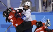 Gold Medal Battle Royal Awaits U.S., Canadian Women in Hockey