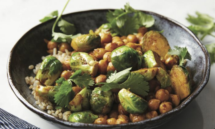 Curried Chickpeas and Brussel Sprouts (Charity Burggraaf)