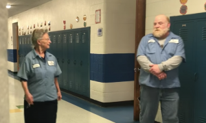 Janitor hears her name over loudspeaker & goes to clean up mess—what she finds is first in her life