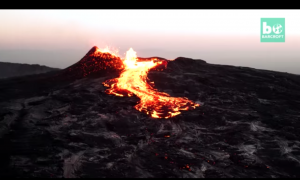This volcano had been bubbling away, but when it finally erupts—it's truly a sight to behold