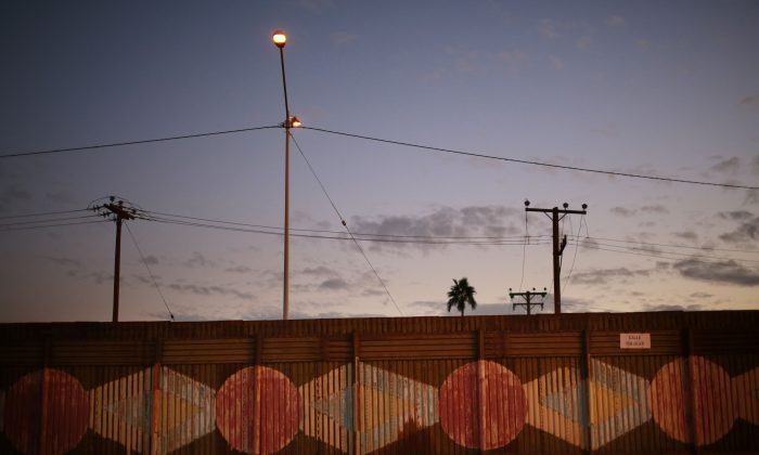 The U.S.-Mexico border wall in Calexico, California, on November 19, 2014.(Sandy Huffaker/Getty Images)