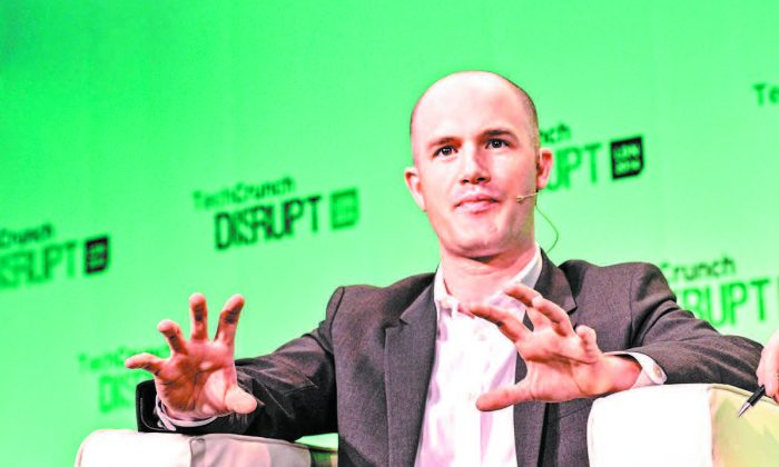 Coinbase CEO Brian Armstrong at TechCrunch Disrupt Europe 2014 in London on Oct. 21, 2014. (