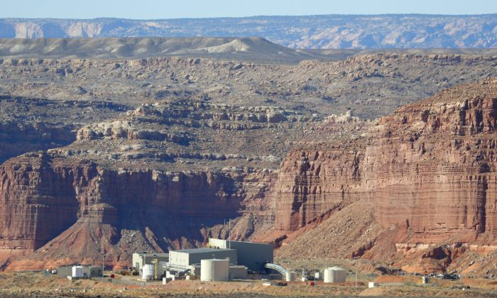 Anfield's Shootaring Canyon Uranium Mill in the middle of the Utah desert on Oct. 27, 2017.  Anfield with is in partnership with the Russian firm Uranium One. (George Frey/Getty Images)