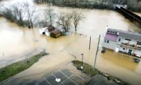 Tributaries Flooding in Ohio after Heavy Rain: Footage