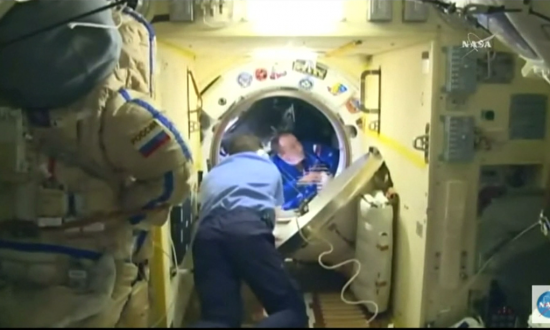 Shift Change on Space Station as Three Crew Members Head Back to Earth