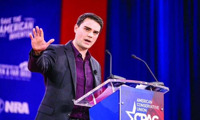Ben Shapiro, an American conservative political commentator and editor-in-chief for The Daily Wire, during the CPAC 2018 in National Harbor, Md., on Feb. 22. (SAMIRA BOUAOU/THE EPOCH TIMES)