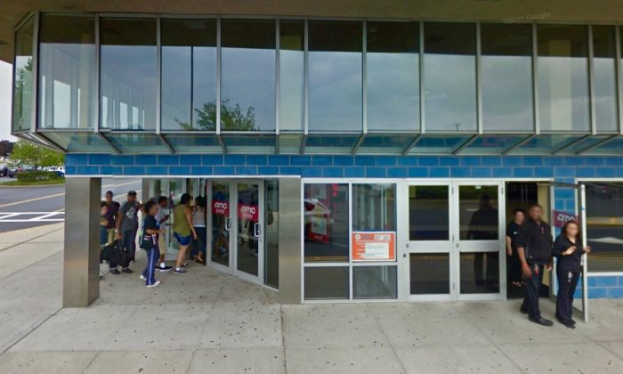 The AMC Dine-In movie theater, in Levittown, New York, where a woman allegedly dumped popcorn on a 2-year-old. (Screenshot via Google Maps)