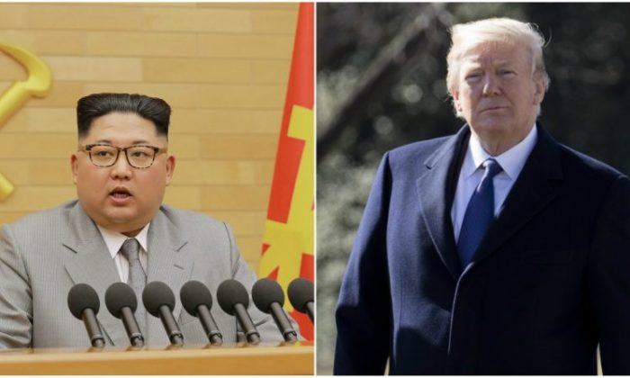 North Korean communist dictator Kim Jon Un (KCNA) President Donald Trump (Samira Bouaou/Epoch Times)