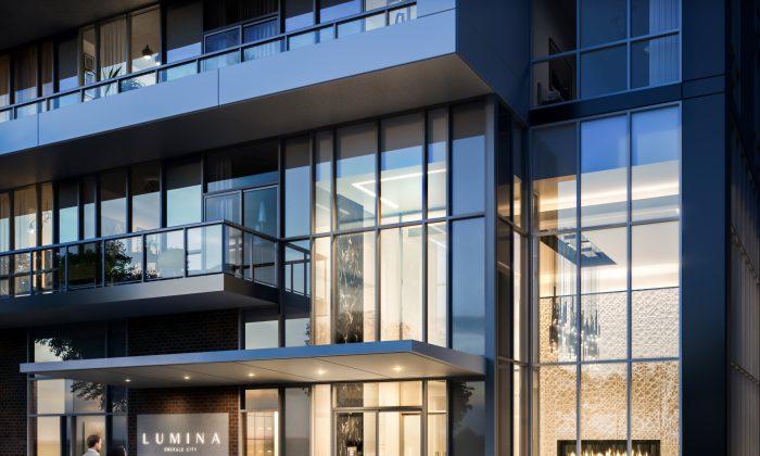 A rendering of the Lumina condominium entrance.(Courtesy of Elad Canada)