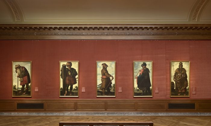 "Five of the 13 paintings in the exhibition, ""Zurbarán's Jacob and His Twelve Sons: Paintings from Auckland Castle"" at The Frick Collection,"" on view until April 12, 2018. (The Frick Collection)"