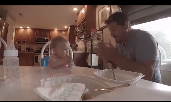 Dad teaches deaf daughter sign language by performing the cutest rendition of famous song