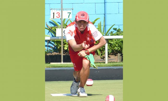 Hong Kong youngster Jason Choi narrowly missed a podium finish at the 2018 World Youth Bowls Championship at Broadbeach Bowls and Community Club in Australia.  He were knocked-out by Ross Owen of Wales in the Men's Singles play-off and can only finished fifth. (David Allen)