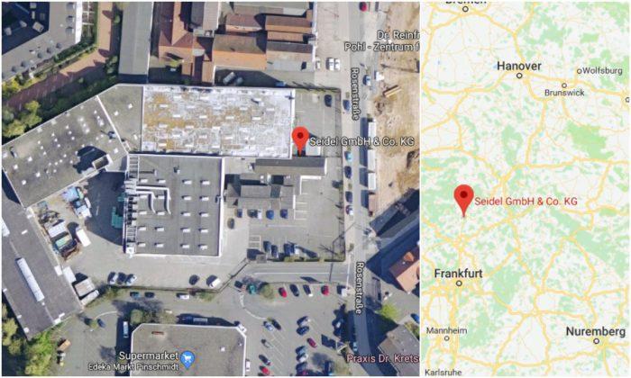 The headquarters of Andreas Graf's employer, Seidel GmbH & Co. KG, in Marburg, Germany. (Screenshots via Google Maps)