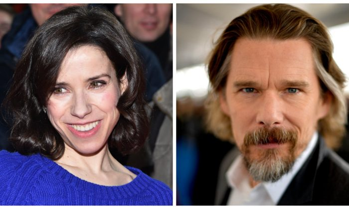 Actress Sally Hawkins attends the 'Maudie' press conference during the 67th Berlinale International Film Festival Berlin at Grand Hyatt Hotel on February 15, 2017 in Berlin, Germany. (Pascal Le Segretain/Getty Images) / Actor Ethan Hawke attends the 2018 Film Independent Spirit Awards on March 3, 2018 in Santa Monica, California. (Matt Winkelmeyer/Getty Images)