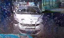 'Revoke Their License': Rear Dashcam Captures Crash at Car Wash