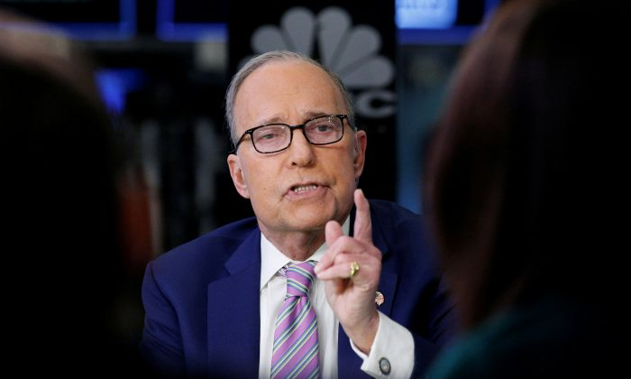 Economic analyst Larry Kudlow appears on CNBC at the New York Stock Exchange on March 7, 2018. (REUTERS/Brendan McDermid)