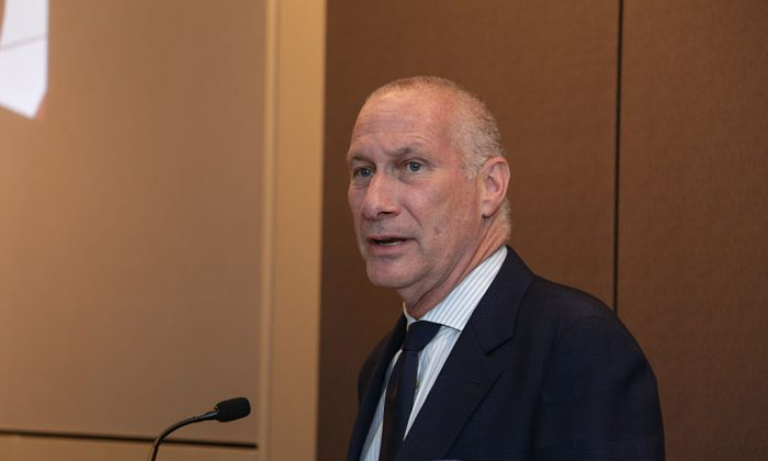 Then-President of ESPN Inc. John Skipper speaks during the George Bodenheimer Book Party at Hearst Tower on June 2, 2015 in New York City. (Photo by Anna Webber/Getty Images for Hearst Corporation)