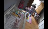 Parent's Worst Nightmare as Alleged Burglar Creeps Around in Baby Room