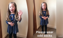 5-Yr-Old Chloe Wants You to Wear Odd Socks to Celebrate World Down Syndrome Day