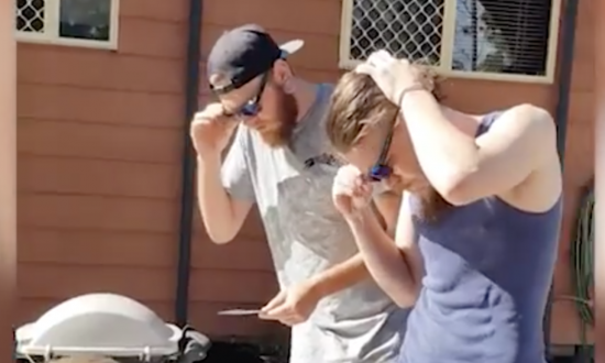 Two brothers put on their 'sunglasses', but once it kicks in—'this is wild'