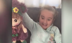 Deaf girl gets a new doll, but there's one thing on the doll that has her screaming