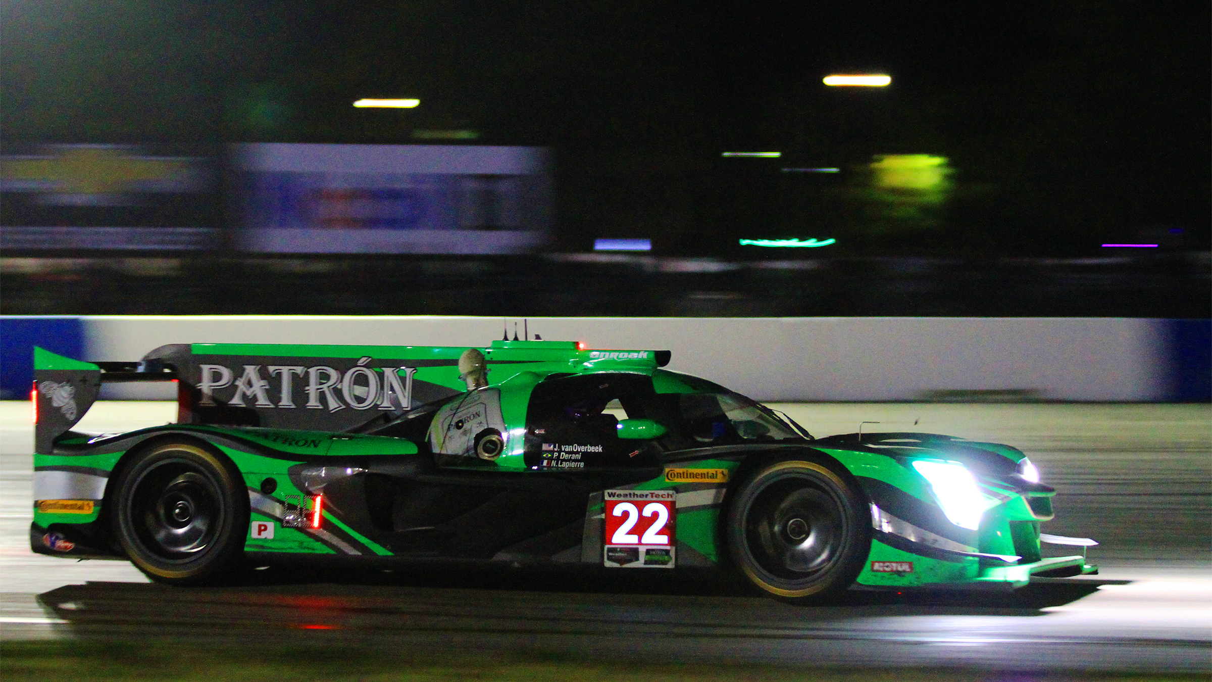 Pipo Derani In The 22 Extreme Sd Motorsports Nissan Dpi Leads Final Few Laps