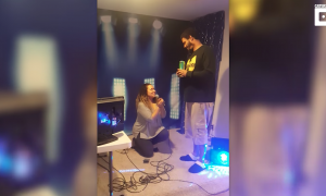 When she excitedly gets on one knee to propose—his reply was not what she was expecting at all