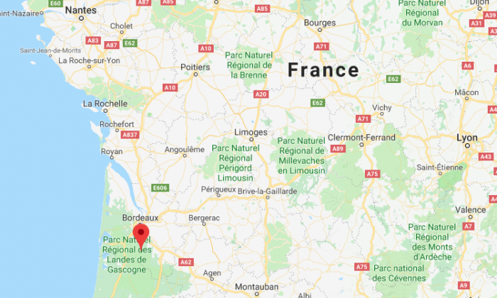 Louchats, near the city of Bordeaux. (Screenshot via Google Maps)