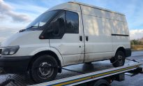 Highway Police Catch Unlicensed, Uninsured Driver in Van With No Brakes