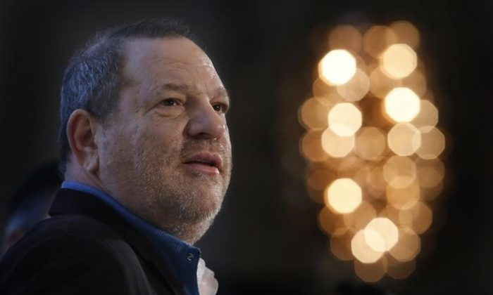 Harvey Weinstein speaks at the UBS 40th Annual Global Media and Communications Conference in New York, Dec. 5, 2012. (Reuters/Carlo Allegri)