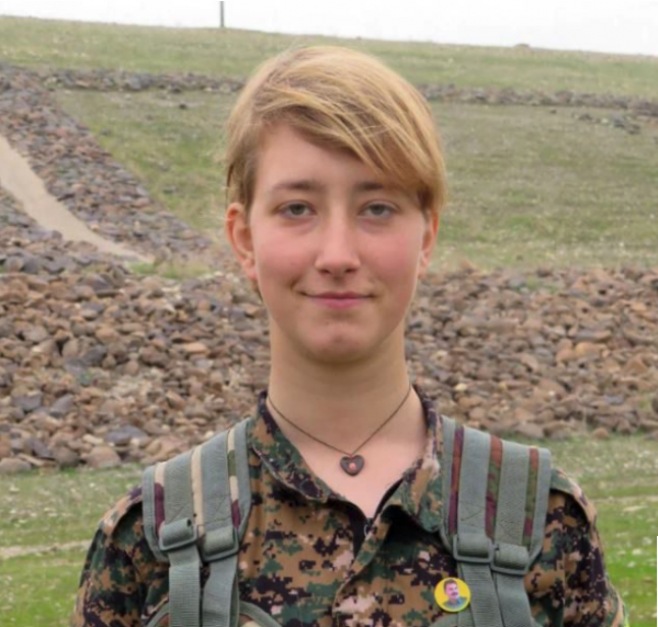Anna Campbell 26 was a volunteer with the U.S.-backed Kurdish Women's Protection Units