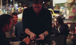 Man at dinner with girlfriend & magician approaches, but what he does—realizes girlfriend set him up