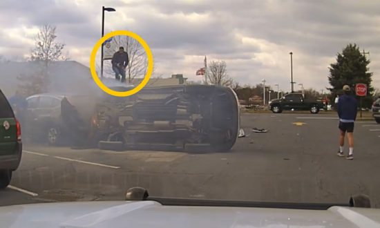 Bystanders Team Up for Dramatic Rescue of Man Pinned Under Burning Car
