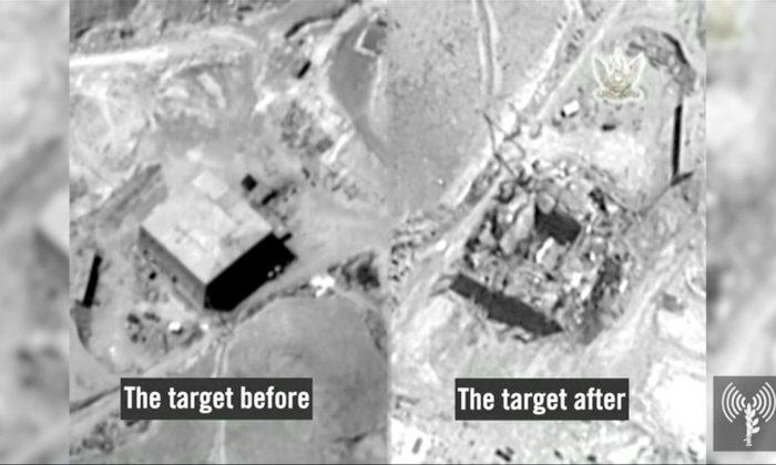 Suspected Syrian nuclear reactor site near Deir al-Zor on Sept 6, 2007. (IDF/Handout via Reuters TV)