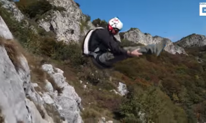 Man takes deep breath and jumps off cliff. What he does next—my eyes are glued to his every move