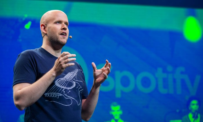 Daniel Ek, CEO and founder of Spotify, in New York on May 20, 2015. (Andrew Burton/Getty Images)