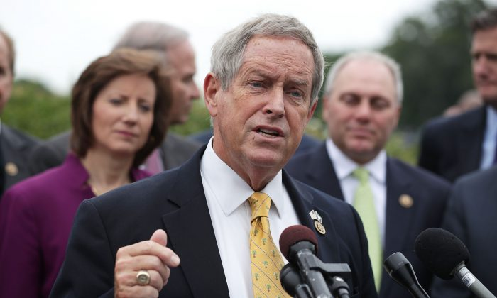 U.S. House Rep. Joe Wilson (R-SC) speaks during a news conference on May 19, 2016 on Capitol Hill in Washington, DC.   (Alex Wong/Getty Images)