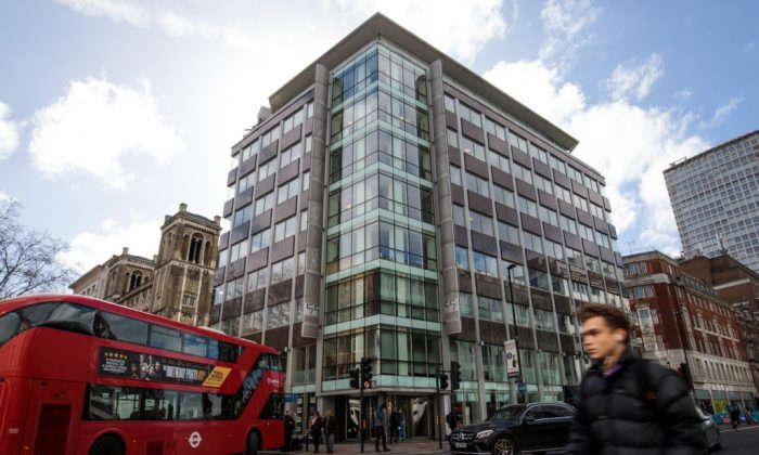 The London headquarters of Cambridge Analytica on March 20, 2018. (Jack Taylor/Getty Images)