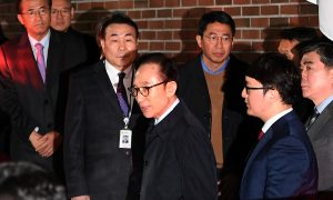 South Korea Ex-President Lee Detained on Graft Charges