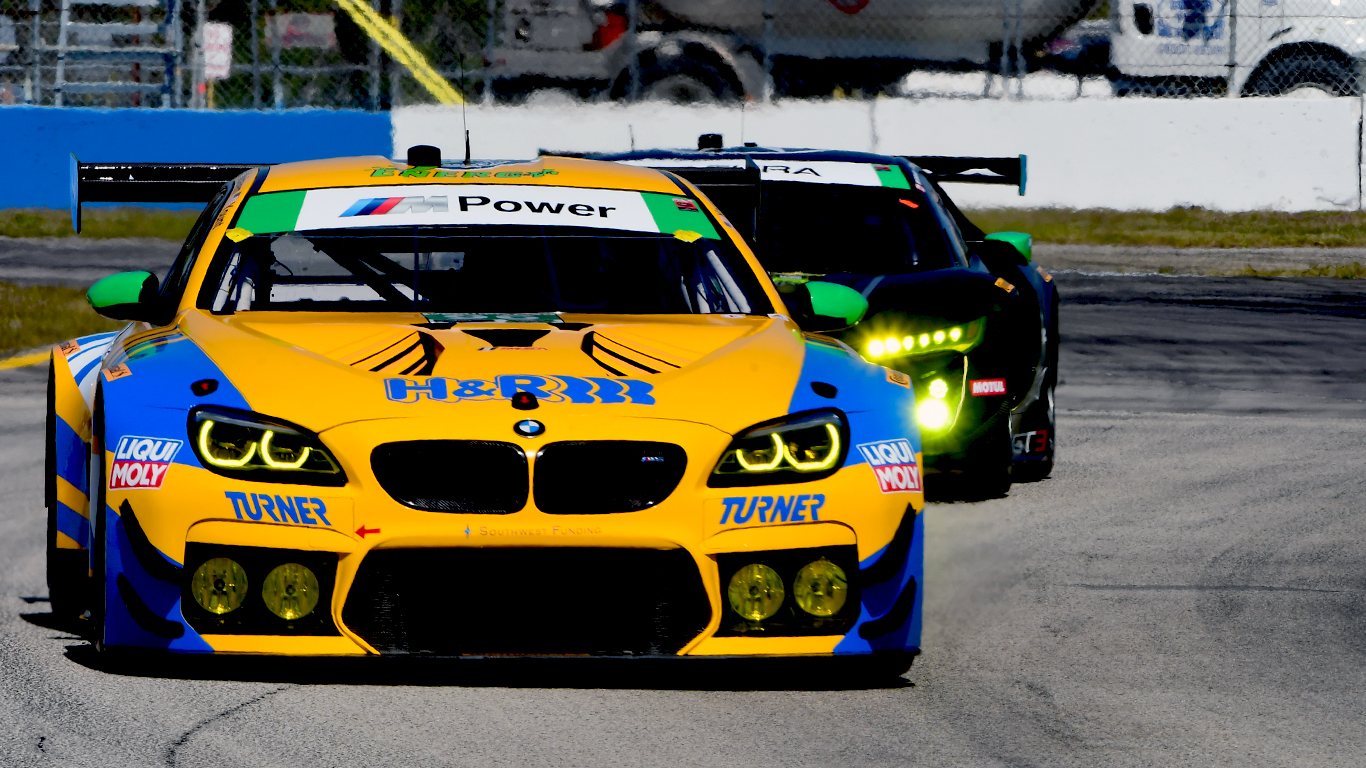 Another car which looked great but didn't finish well, the #96 Turner BMW came home 11th in class. (Bill Kent/Epoch Times)