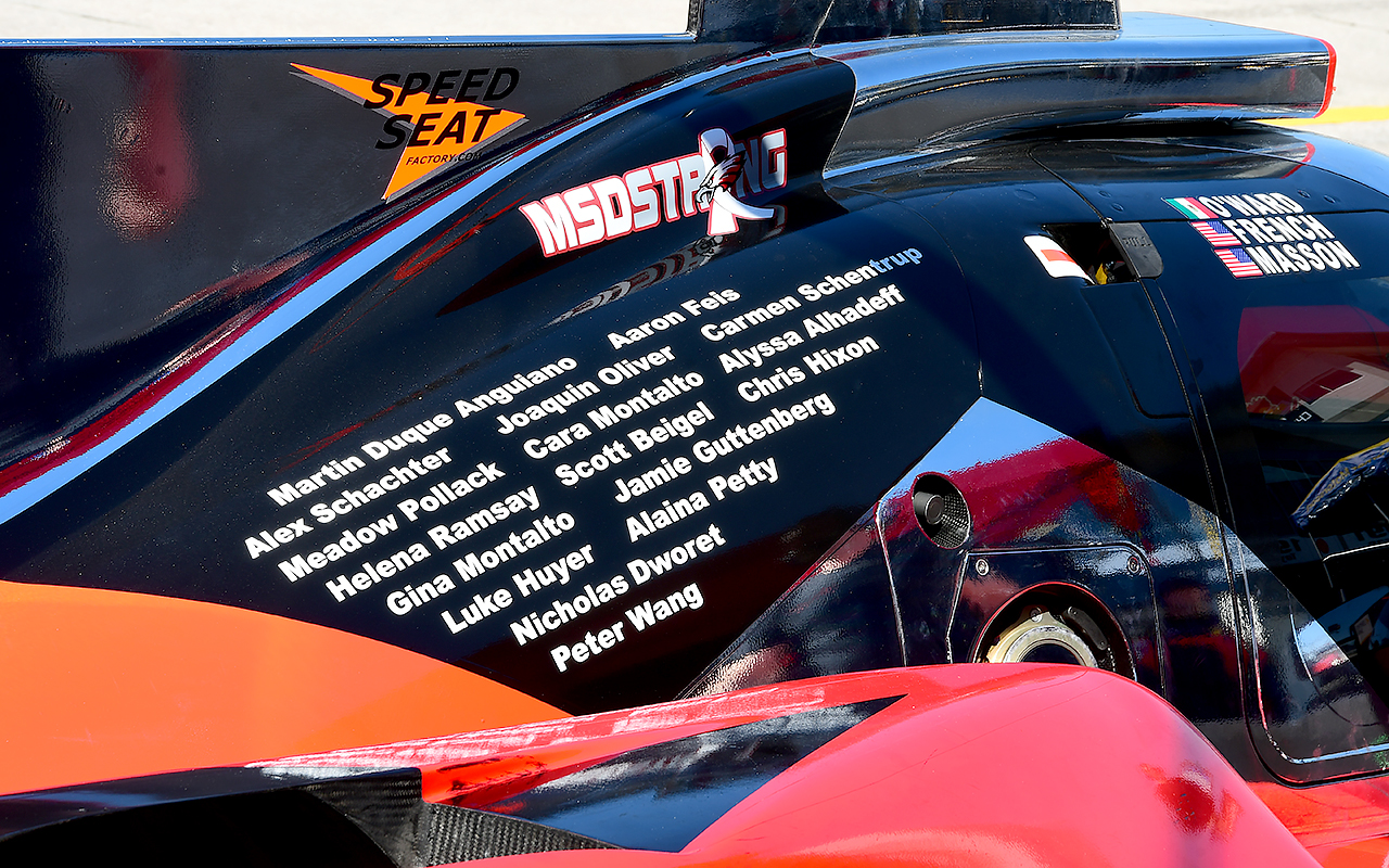 The Florida-based Performance Tech team listed the victims of the Marjorie Stoneman Douglas school shooting on their engine cover as a tribute to the lives cut short. (Bill Kent/Epoch times)