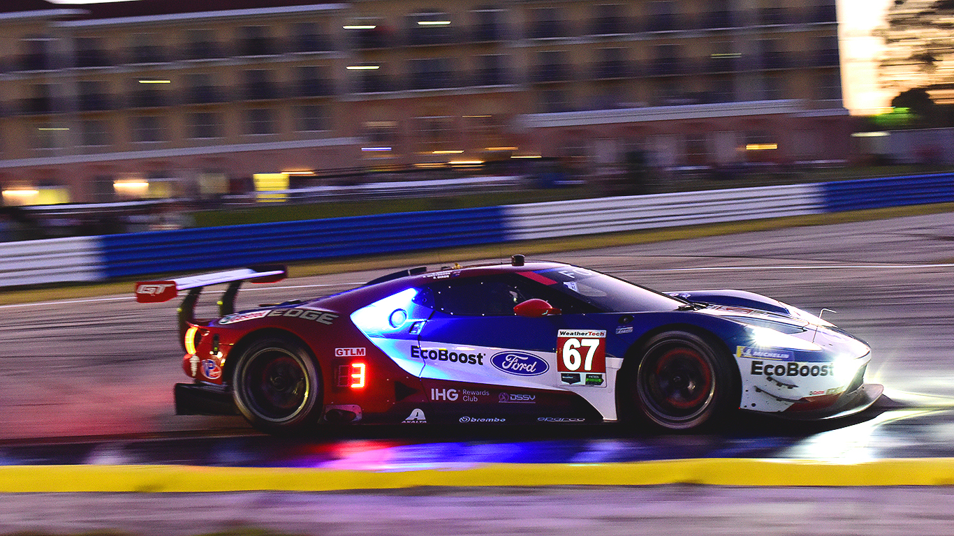 The #67 Ford GT finished fourth in GTLM. (Bill Kent/Epoch Times)