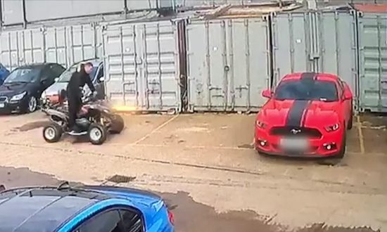 Man About to Park Quad Bike Next to His New Sports Car—Destruction Ensues