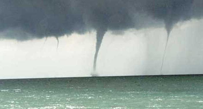 Waterspouts in a file photo. (NOAA)