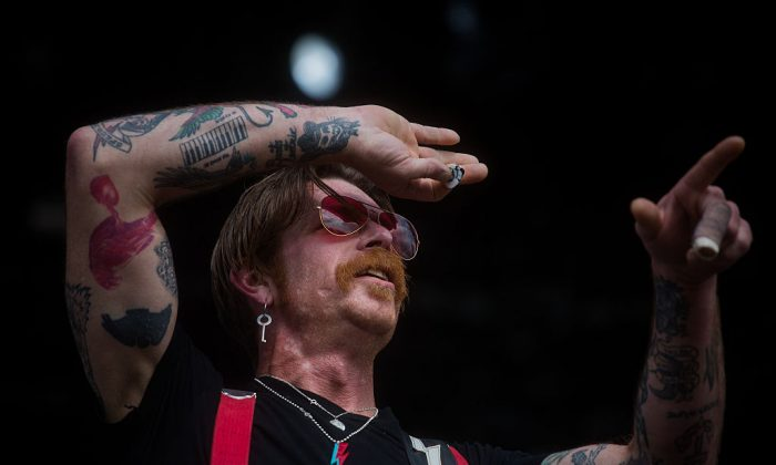 Singer Jesse Hughes of Eagles of Death Metal performs during 2016 Lollapalooza Brazil at Autodromo de Interlagos on March 12, 2016, in São Paulo, Brazil. (Victor Moriyama/Getty Images)