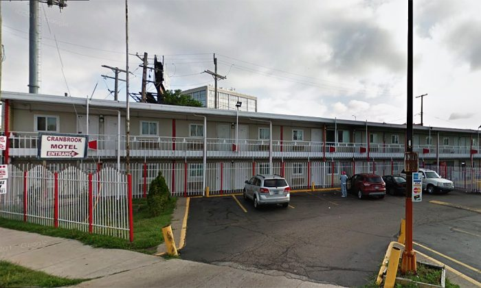 Detroit police found two toddlers abandoned in room 119 of the Cranbrook House Motel in northwest Detroit, Michigan. (Google maps screenshot)