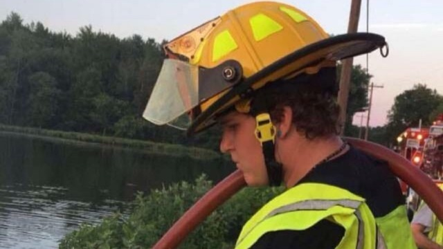 Elmer, N.J., junior firefighter Timothy Crim. (Elmer Fire Department)