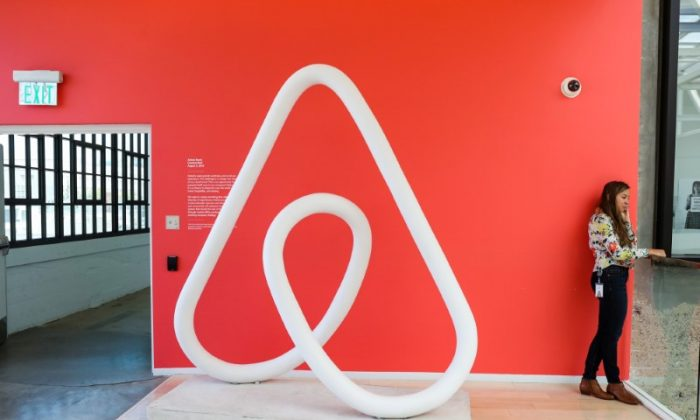 A woman talks on the phone at the Airbnb office headquarters in the SOMA district of San Francisco, California, U.S., in August 2016.  (Reuters/Gabrielle Lurie)