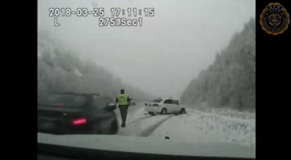 Dashcam video of Utah Highway Patrol trooper being hit by vehicle