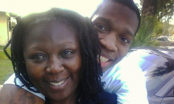 Terica Charles and her now-dead son Rodney Baker. (GoFundMe)